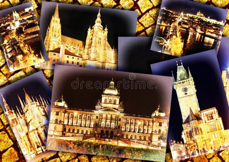 Collage di bella Praga fotografia stock libera da diritti