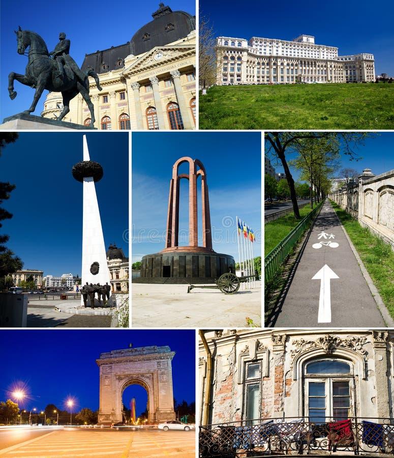 Collage di Bucarest fotografie stock libere da diritti