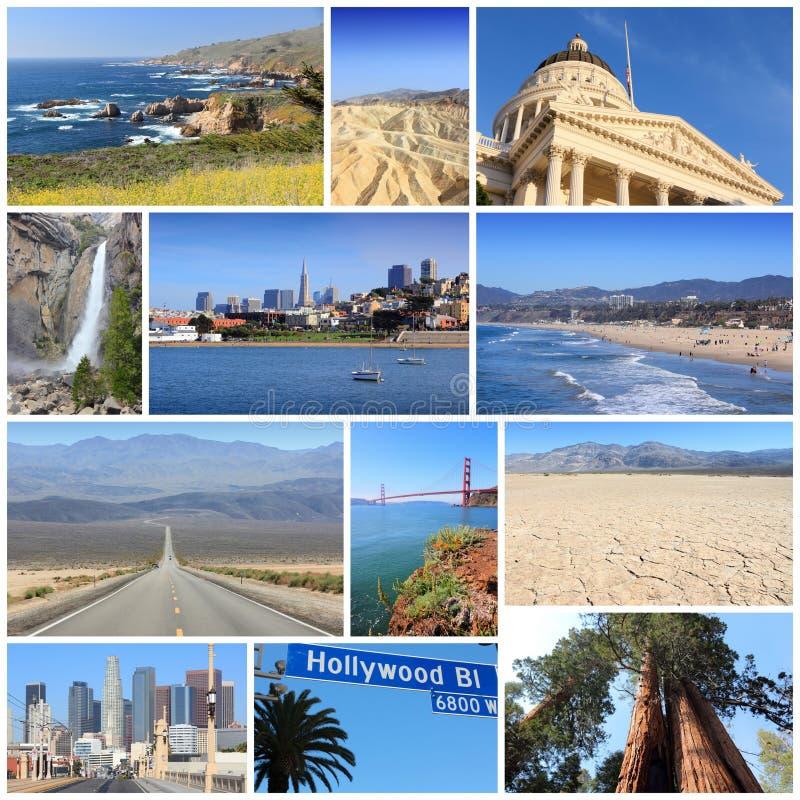 Collage di California fotografia stock