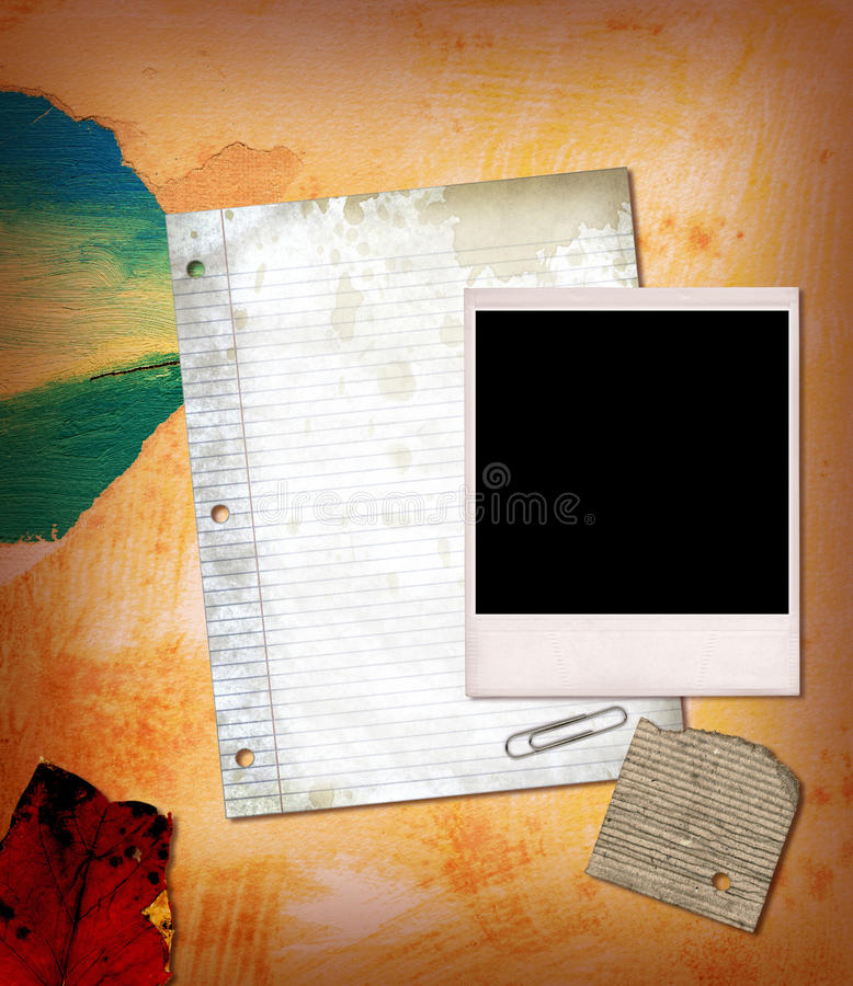 Collage di carta fotografia stock libera da diritti