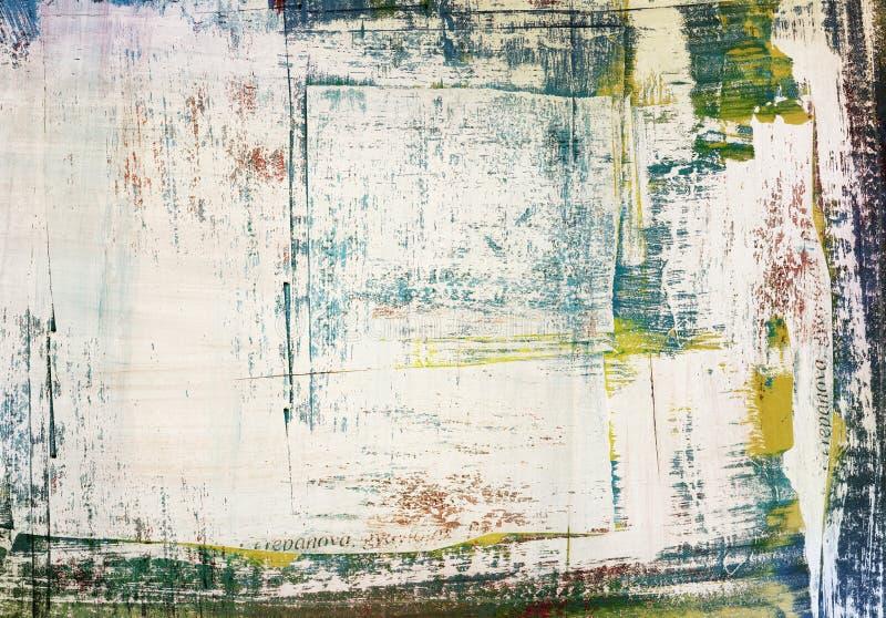 Collage di carta lacerato dipinto lerciume, incrinato illustrazione di stock
