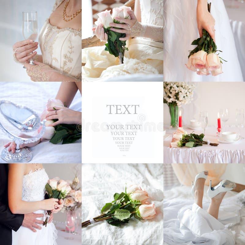 Collage di cerimonia nuziale fotografia stock libera da diritti