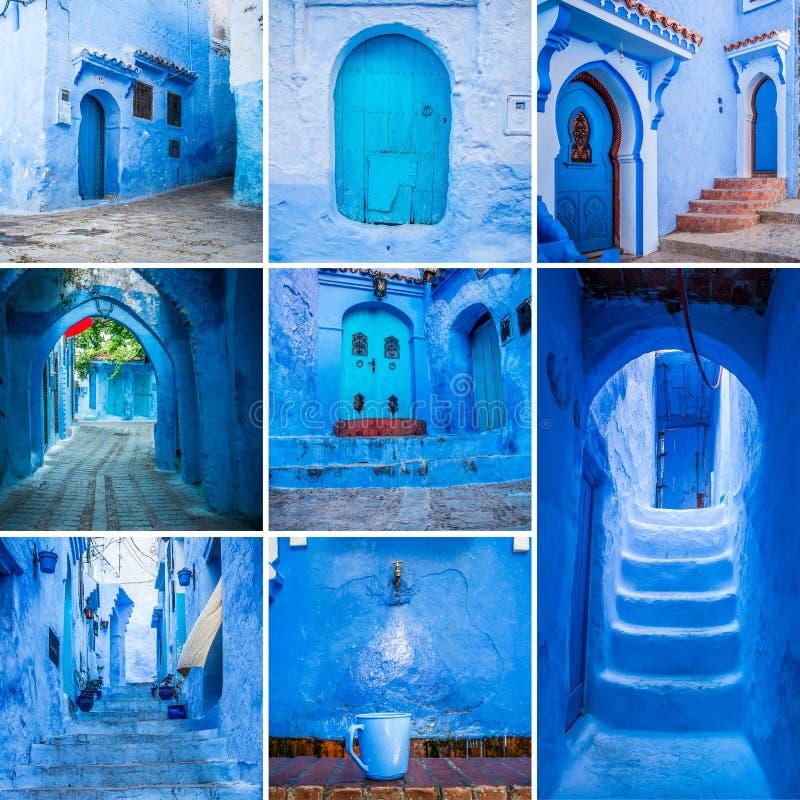 Collage di Chefchaouen fotografia stock