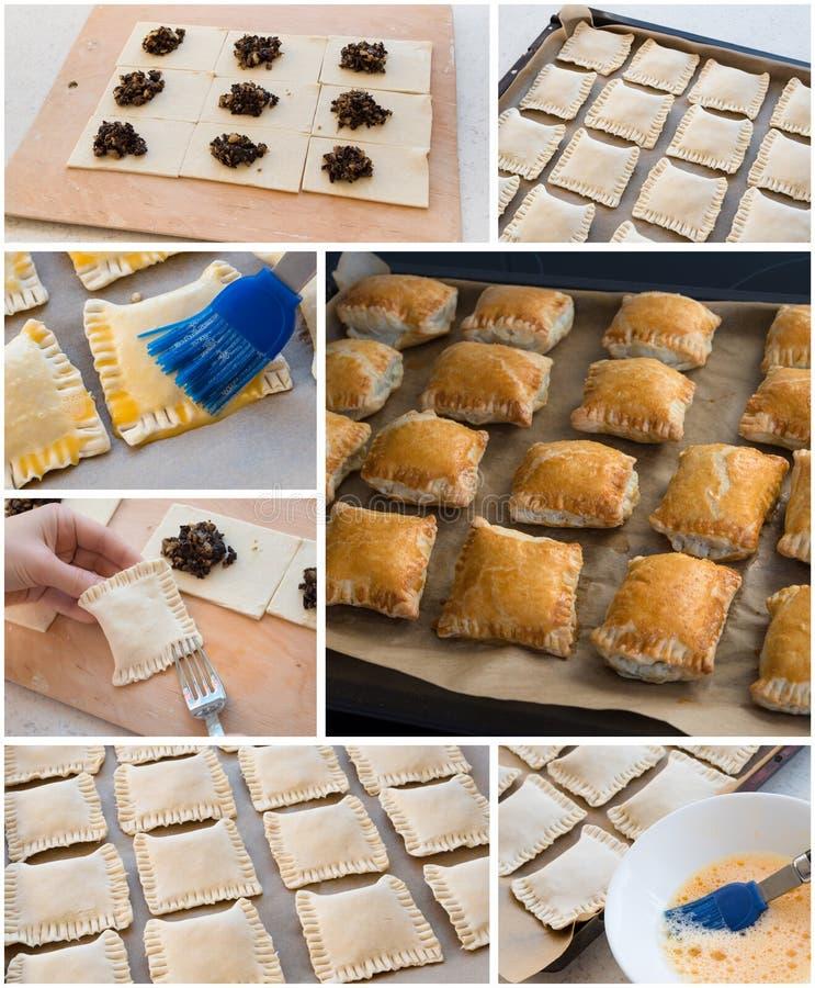 Collage di cottura dei dolci fatti a mano fotografie stock