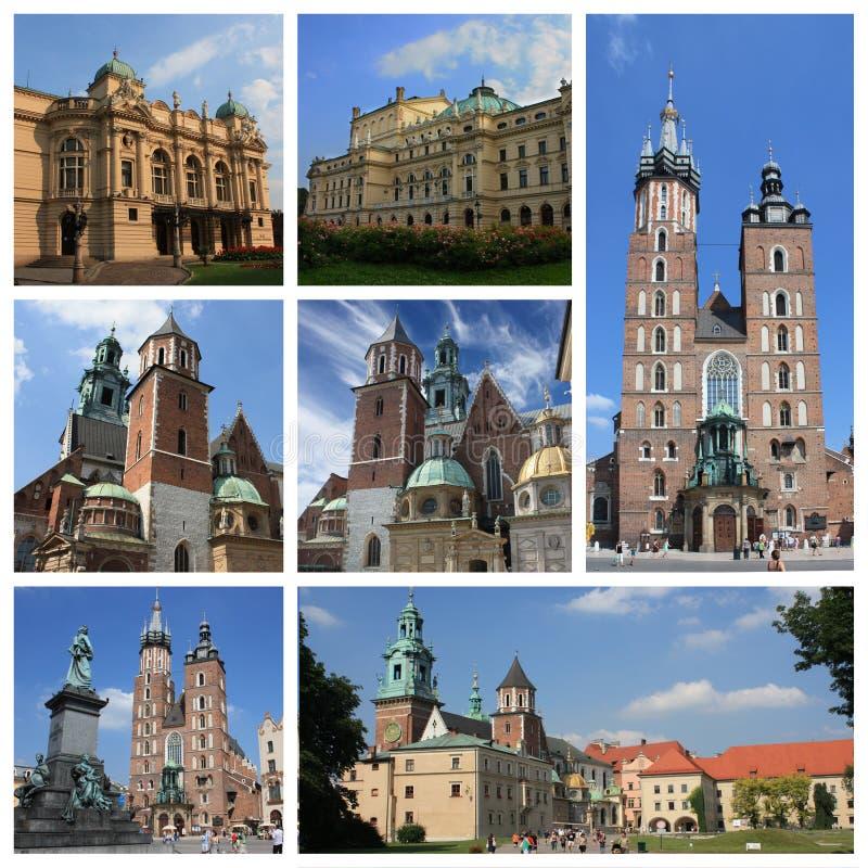 Collage di Cracovia Polonia illustrazione vettoriale