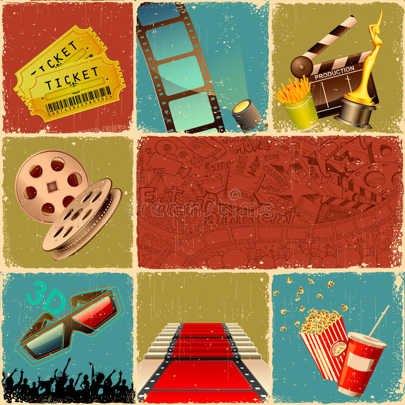 Collage di film illustrazione di stock