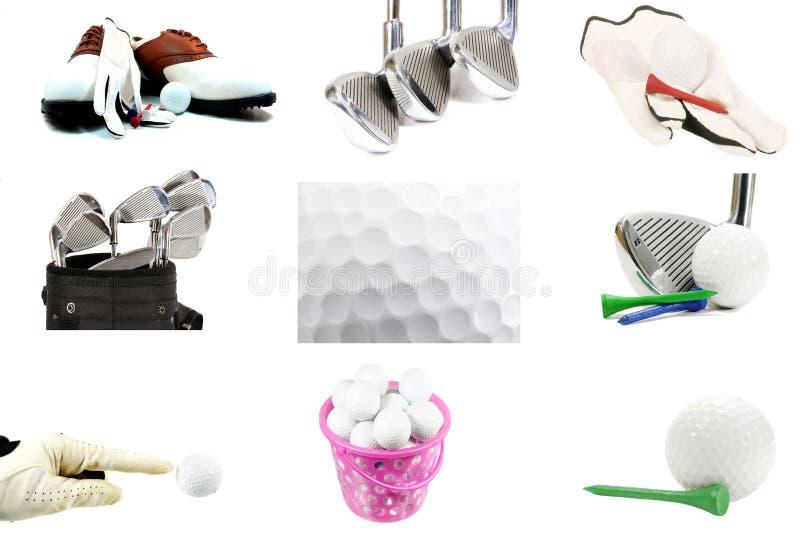 Collage di golf immagine stock