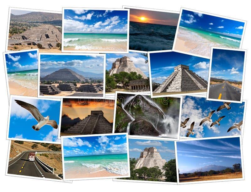 Collage di immagini del Messico illustrazione vettoriale