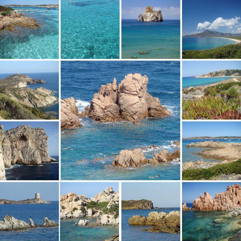 Collage di immagini di corsa della Sardegna immagine stock libera da diritti