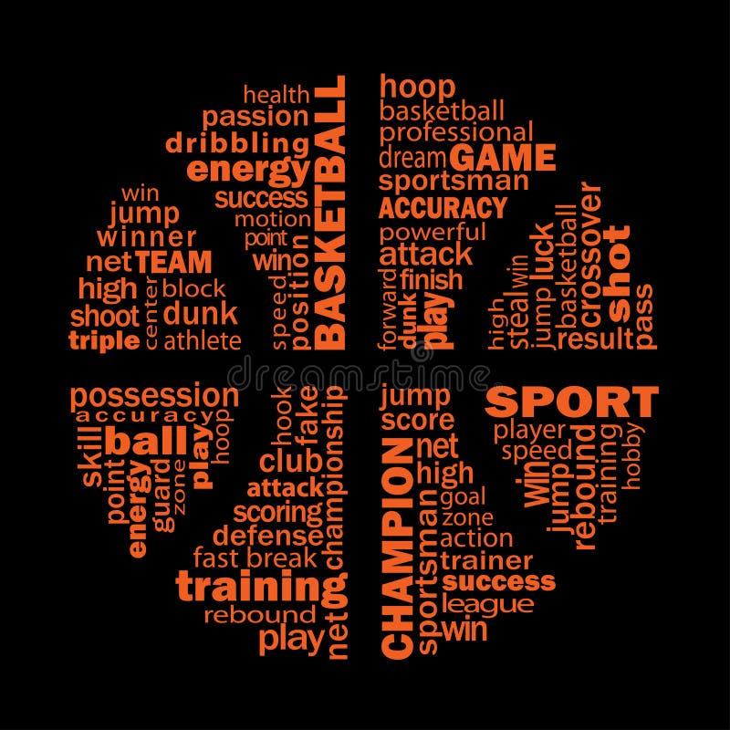 Collage di pallacanestro illustrazione vettoriale