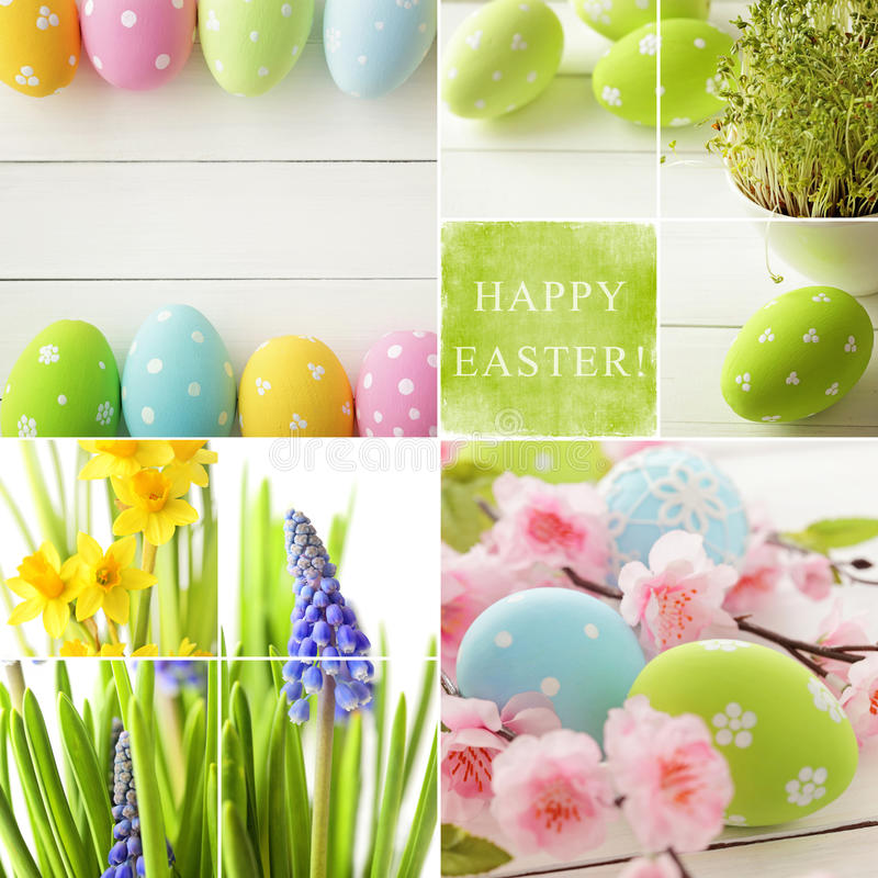 Collage di Pasqua fotografia stock libera da diritti