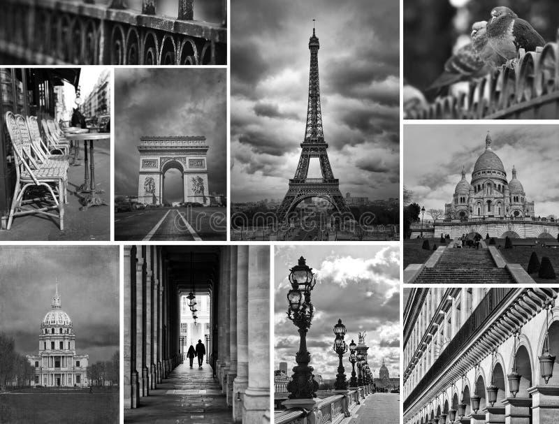 Collage di questa posizione favolosa Parigi immagini stock