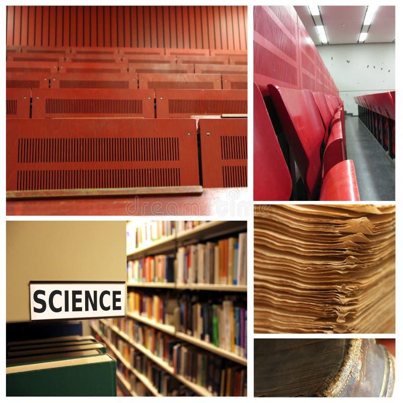Collage di scienza dell'università fotografia stock