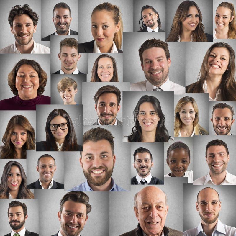 Collage di sorriso fotografia stock