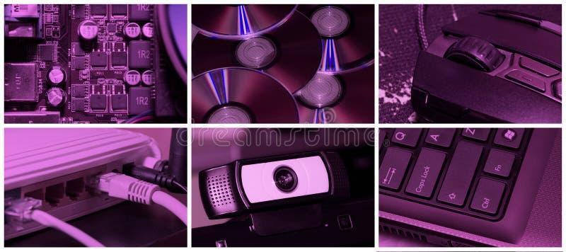 Collage di tecnologia immagini stock libere da diritti