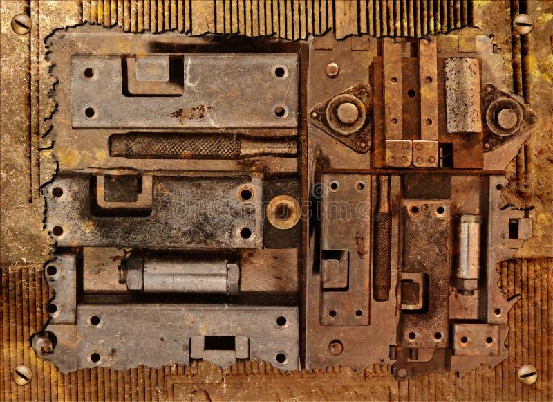 Collage di un dispositivo meccanico fotografie stock