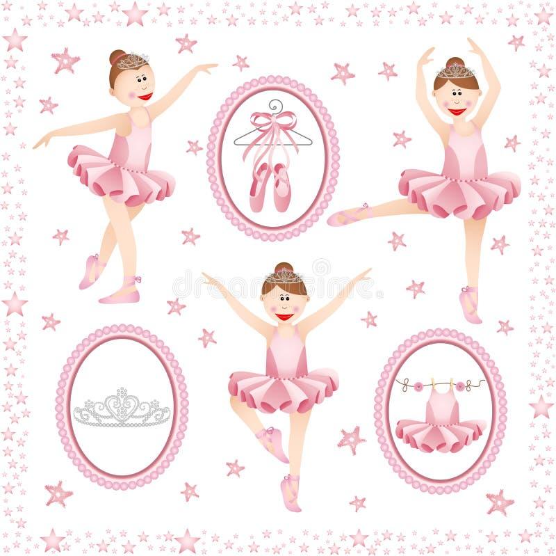 Collage digital de ballerine rose illustration libre de droits