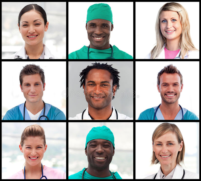 Download Collage Of Doctors Portraits Smiling At The Camera Stock Photo - Image: 10723616