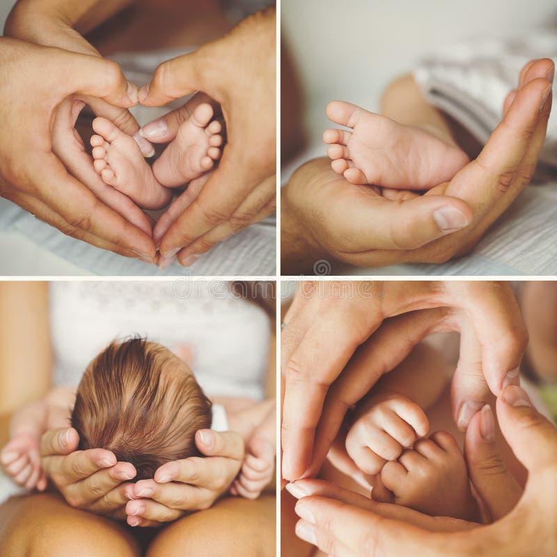 Collage du nouveau-né photos stock