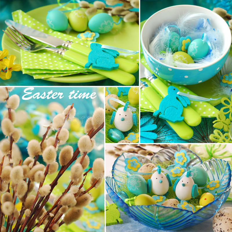 Download Collage for easter time stock photo. Image of plate, bowl - 28529162