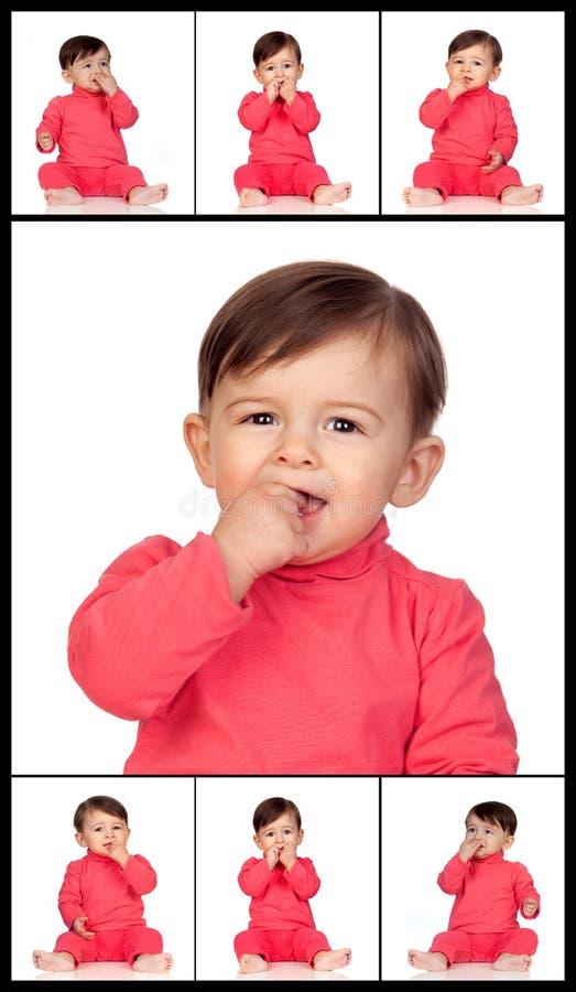 Molliges Girl Isst Schokoriegel
