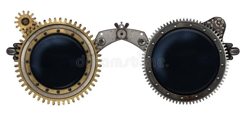 Collage en métal en verre de Steampunk illustration libre de droits