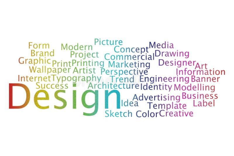 Collage för designordmoln vektor illustrationer