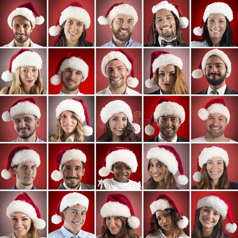 Collage för lycklig jul royaltyfria foton