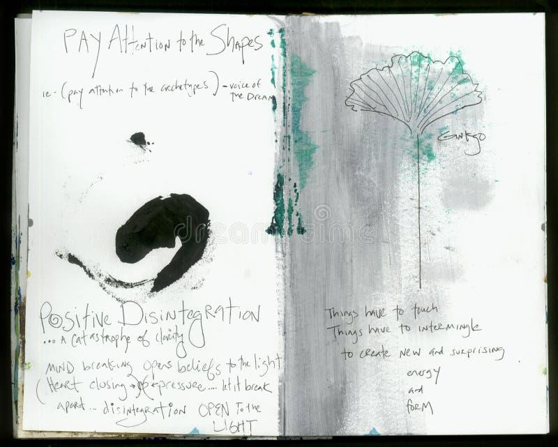 Collage fait main Art Journal de la sagesse folle d'Art Journal Artist personnel image stock