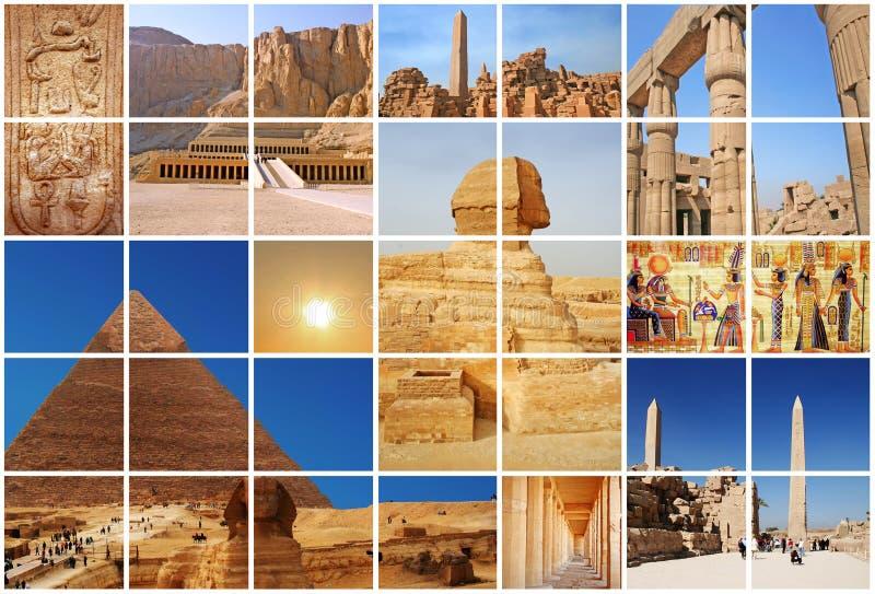 Collage favoloso dell'Egitto