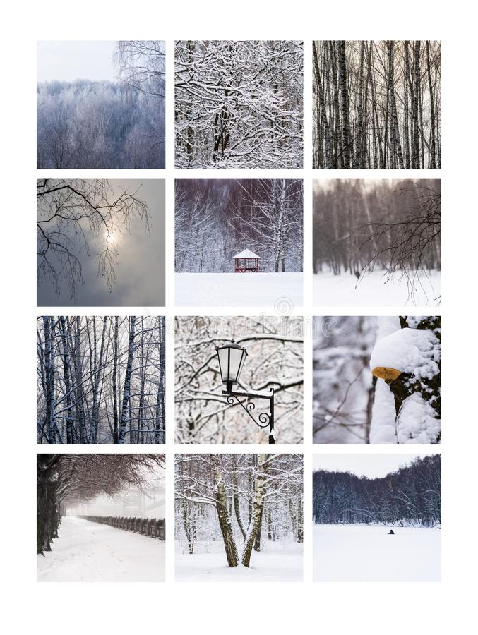Collage February stock photos