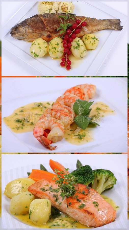 Download Collage Of A Fine Dining Meal Stock Images - Image: 17512824
