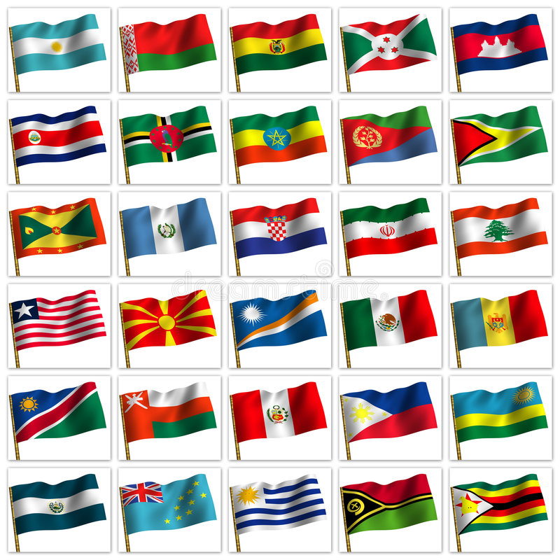 Collage from flags of the different countries. royalty free illustration