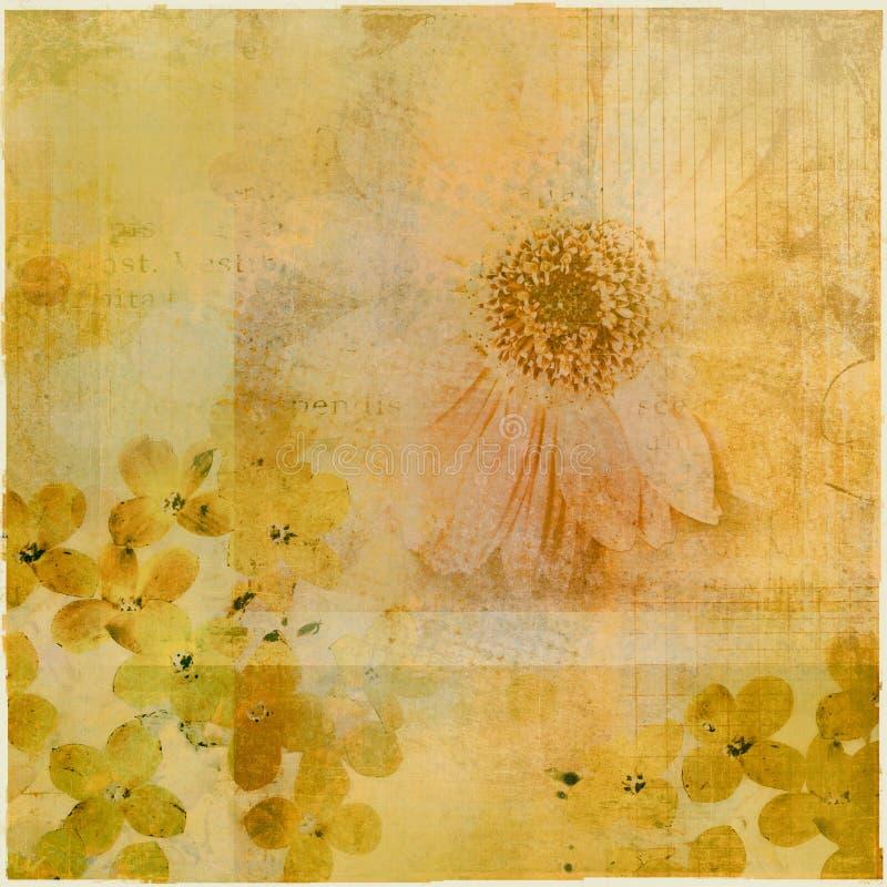 Collage floral del grunge libre illustration