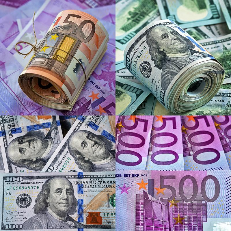 collage Fond d'argent images stock