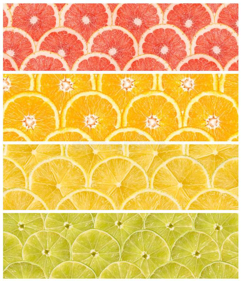Collage Of Fresh Summer Fruits. Abstract Seamless Collage Of Fresh Summer Fruits stock photography