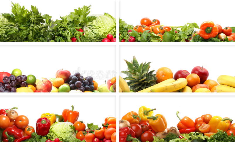 Download A Collage Of Fresh And Tasty Fruits And Vegetables Stock Photography - Image: 18408052