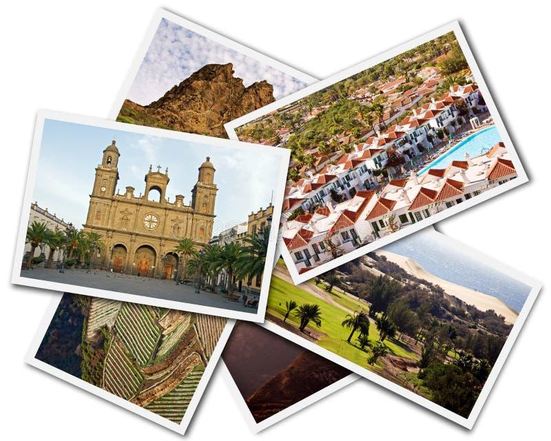 Collage Gran Canaria stockfoto