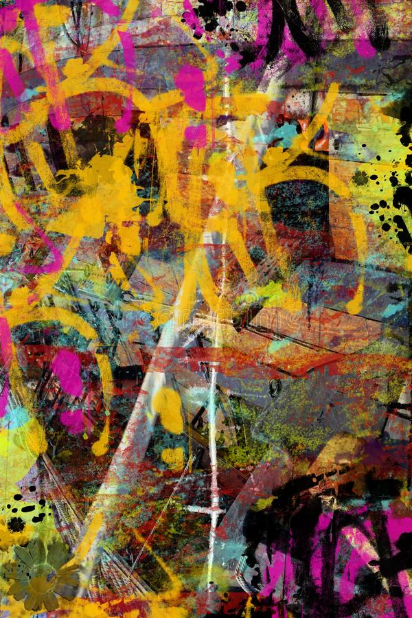 Collage grunge illustration stock