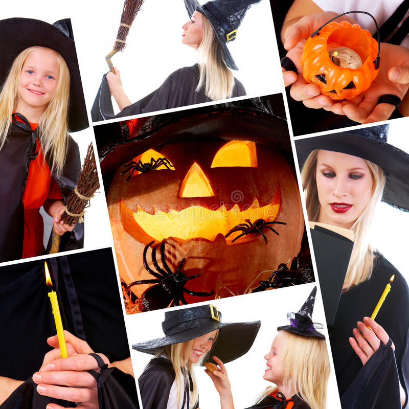 collage halloween arkivbild