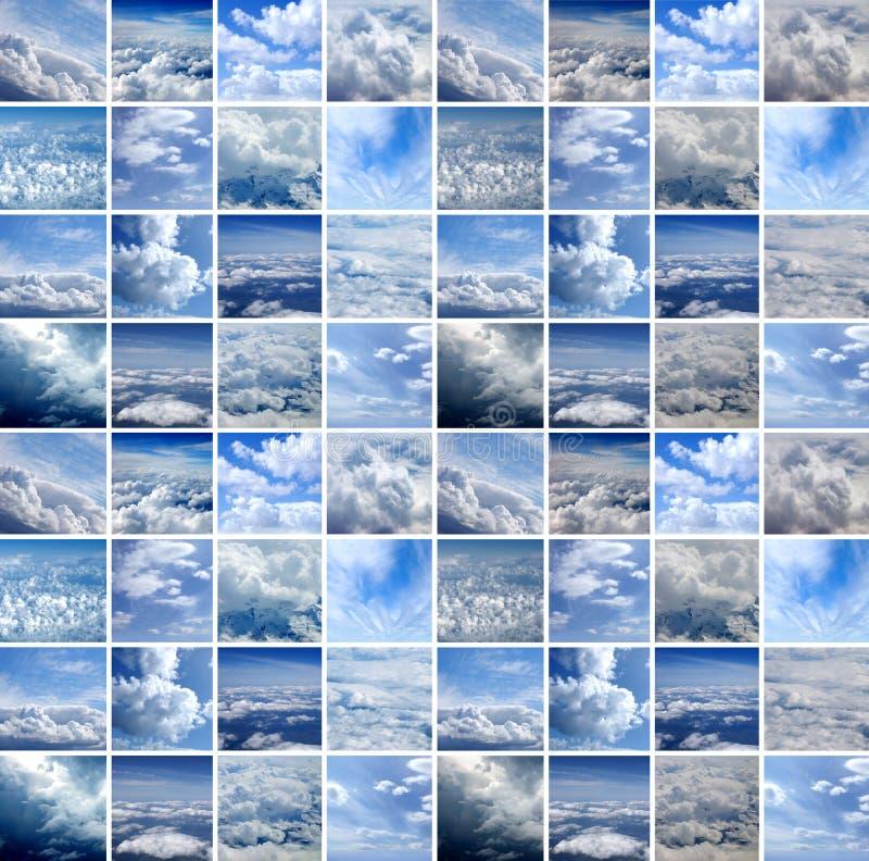 Collage hecho de muchos lanzamientos del aire stock de ilustración