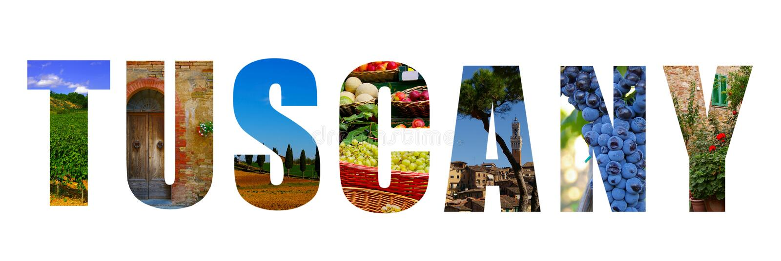Tuscany Italy collage stock photo