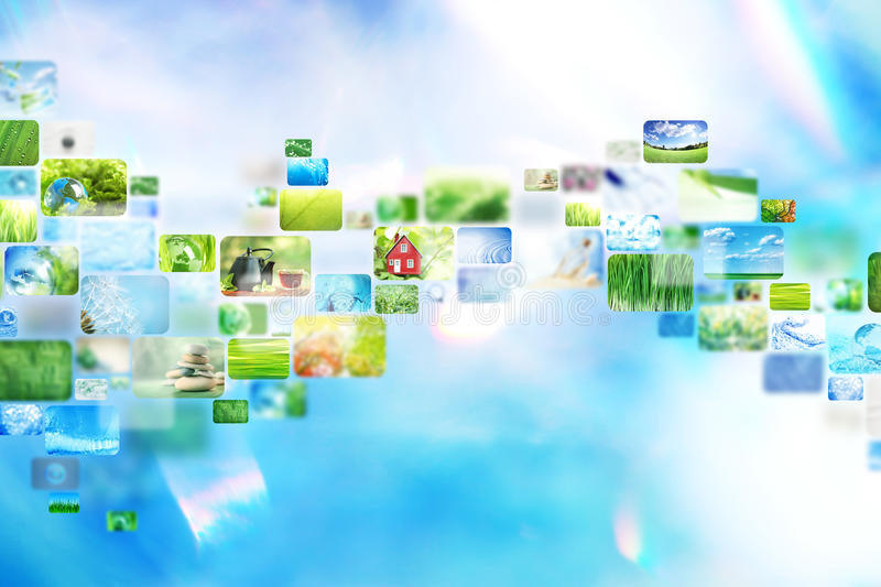 Collage of images. Colorful collage of images background royalty free stock photos
