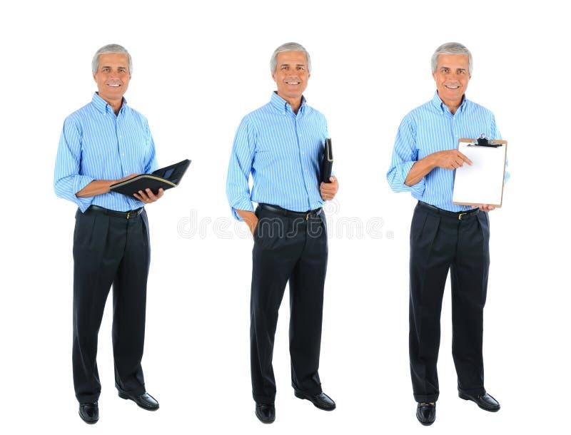 Collage integrale di un uomo d'affari maturo immagini stock libere da diritti