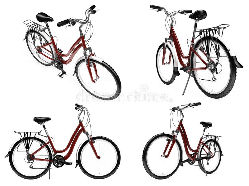 Download Collage Of Isolated Bike Royalty Free Stock Photos - Image: 12135438