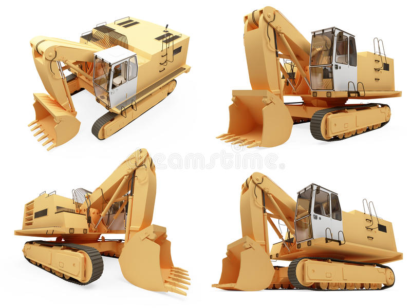 Download Collage Of Isolated Construction Truck Royalty Free Stock Images - Image: 12136179