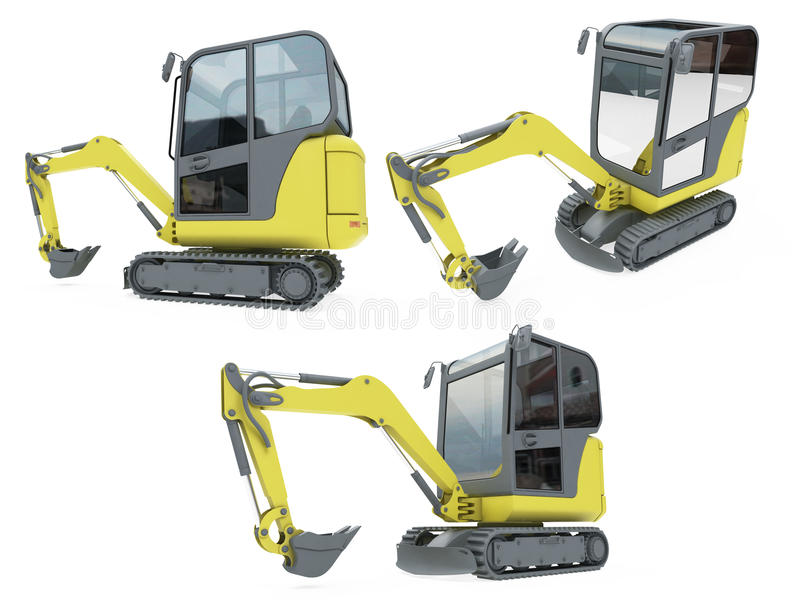 Download Collage Of Isolated Construction Vehicle Stock Illustration - Illustration of collage, single: 12135740