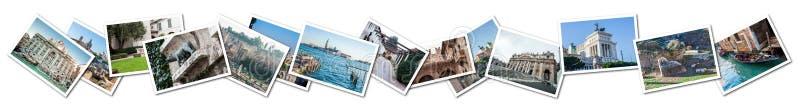 Collage Italia della foto illustrazione di stock