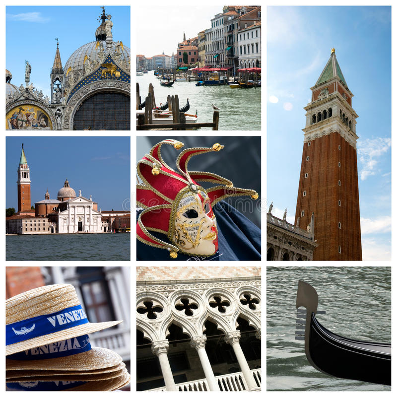 collage Italie Venise photographie stock libre de droits