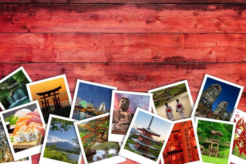 Collage japonais de photo image stock